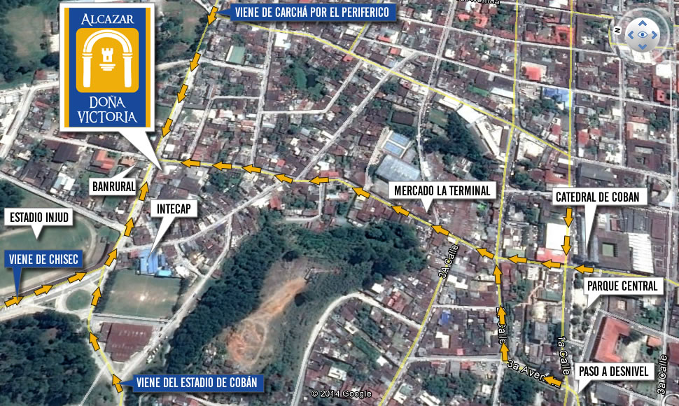 Mapa de ubicación del Hotel Alcazar de Doña Victoria